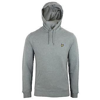 Lyle & scott men's mid grey marl pullover hoodie
