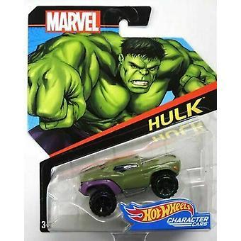 Hot wheels marvel hulk character car