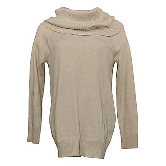 Colleen Lopez Women's Sweater Convertible Neck Pullover Beige 724160
