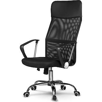 Office Chair Black Artificial Leather Ergonomically adjustable