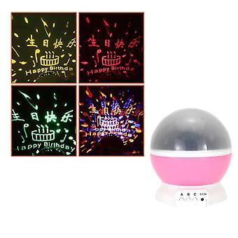 Projector nachtlampje roterende sterrenhemel spin USB voor slaapverlichting Star Bedside Lamp LED
