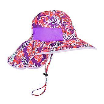 Kids Bucket Cap Wide Brim Sun Hat