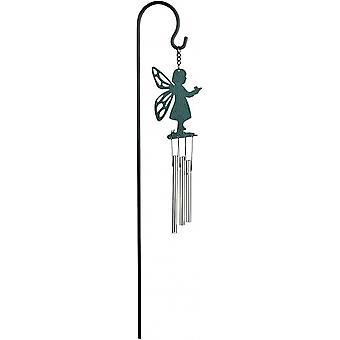 windspiel Fairy 45 cm Stahl grün/silber 3-teilig