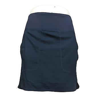 zuda Skirt (XXS) Z-Eco Regular Cityscape Skort with Pockets Blue A391744