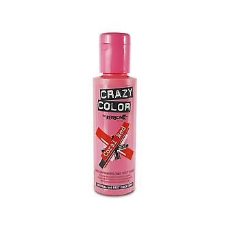 Crazy Color Semi Permanent HårFärg - Coral Red 57