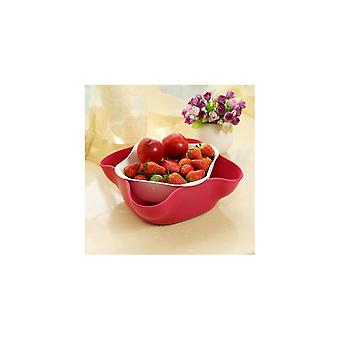 Streamline NYC Double Bowl & Colander - Red