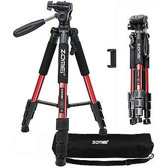 FengChun Q111 Leichtes Stativ tragbares 140cm Reise Stativ mit Pan Kopf kompatibel für Kamera und