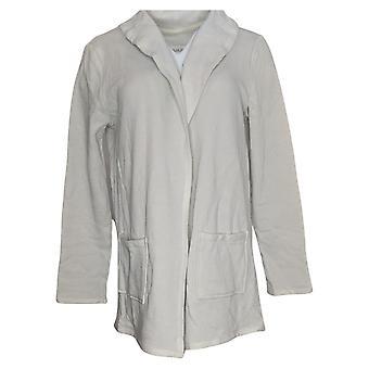 Koolaburra By UGG Women's Sweater French Terry Cardigan Gray A392726