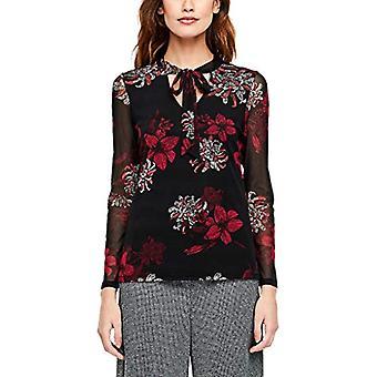 s.Oliver BLACK LABEL 11.912.31.6882 T-Shirt, Multicolore (Flower Print 99a1), 40 (Size Manufacturer: 34) Woman