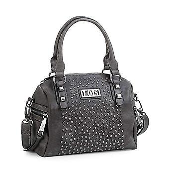 Lois - Tote Bowling Bag para mujer con correa de hombro ajustable y asas dobles zip. Forro impreso y bolsillo interior. Piel de referencia. 8435337070365