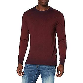 G-STAR RAW Logo Overdye T-Shirt, Dry Red/Blue Sartho GD C336-B740, XX-Small Men