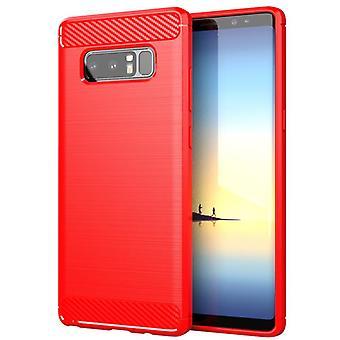 Tpu carbon fibre case for samsung note9 red mfkj-592