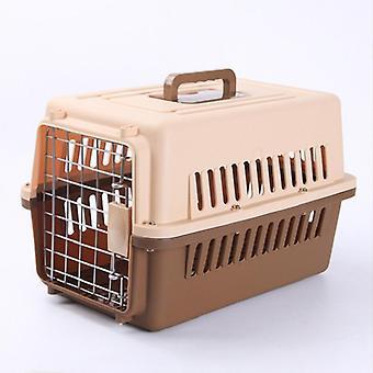 Cat Pet Air Cage Cat Cage Aviação Outing Transporte Caixa de Remessa de Animais De Estimação Cão Avião Gaiola Gato Gaiola Do Ar