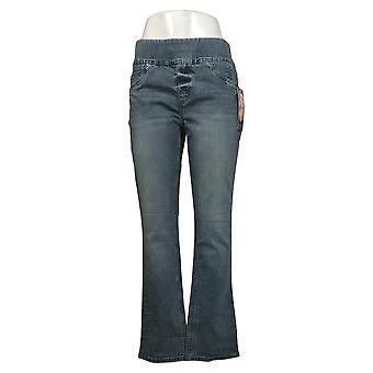 Laurie Felt Vaqueros de Mujer Regular Denim Sedoso W/ Cambre Cintura Azul A385112