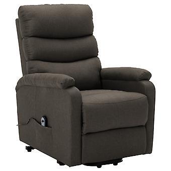 vidaXL fauteuil met riser Taupe stof