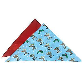 2 Pk 100% bomuld nyhed jule lommetørklæder