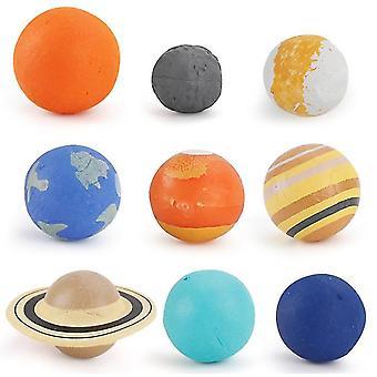 2Pcs 9pcs الكون كوكب نموذج درب التبانة النظام الشمسي كوكب المريخ الزئبق الأرض نبتون الأطفال العلوم التعليمية اللعب az19128