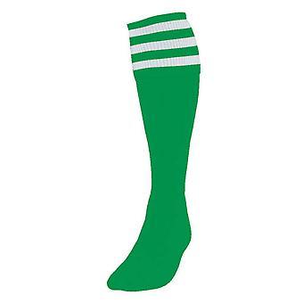 Presnosť 3 Prúžkované futbalové ponožky Boys Smaragd/biela