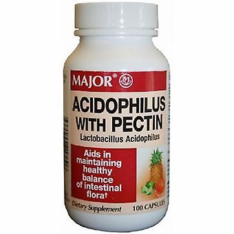 Major Pharmaceuticals Probiotic Dietary Supplement Major 100 per Bottle Capsule, 100 Caps