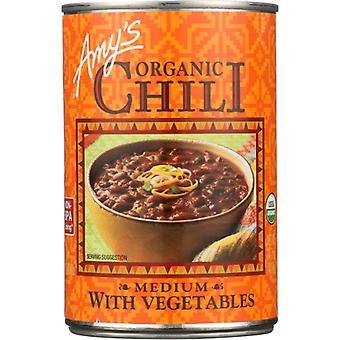 Amys Chili Medium Veg Gf Org, Case of 12 X 14.7 Oz