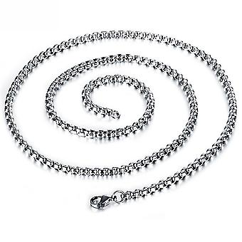 Men Necklace Men Square 304 Stainless Steel Polishing Pearl Chain For Party