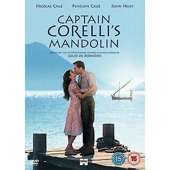 Captain Corellis Mandoline DVD (2002) Nicolas Cage Madden (DIR) cert 15 Regio 2