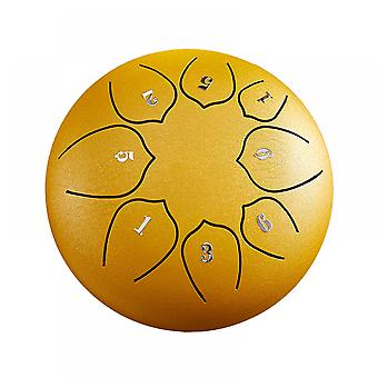 Steel Tongue Drum 8 Notes 6 Inches Metal Hand Drum Kit