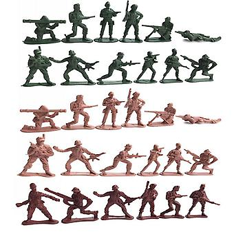 30pcs Army Soldiers Figures Classical War Playset 5cm Plastic Soldiers
