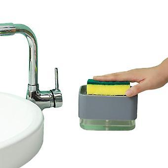 Pressing Soap Box Fluid filling Boxes Sponge Brush Out Liquid Case