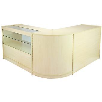 Retail Tellers Winkel Witte Planken Opslag VitrineKast Vitrine Glas Draco