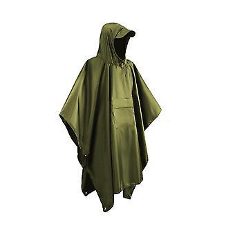 3 En 1 long d'urgence à capuche respirant léger randonnée pluie poncho avec poche camping extérieur réutilisable imperméable hommes femmes