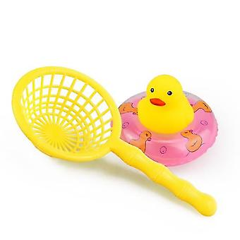 Animals Swimming Water - Mini Colorful Soft Floating Duck With Squeeze Sound