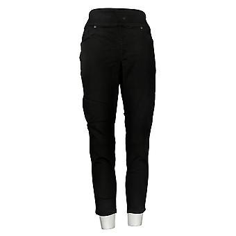 DG2 By Diane Gilman Women's Petite Jeans Comfort Waist Skinny Black 733923