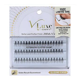 False Eyelashes V Luxe Extension Cluster I-Envy Vlei01 Short