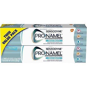 Sensodyne Pronamel معجون أسنان مينا التنفس الطازج للأسنان الحساسة ، موجة جديدة - 4 أوقية (حزمة من 2)