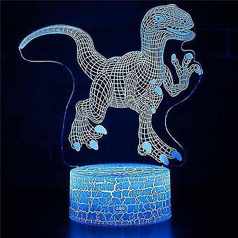 3D luova lamppu 7 väriä optinen vaihtaa kosketusvalo usb ja kaukosäädin art deco tehdä romanttinen lahja #706