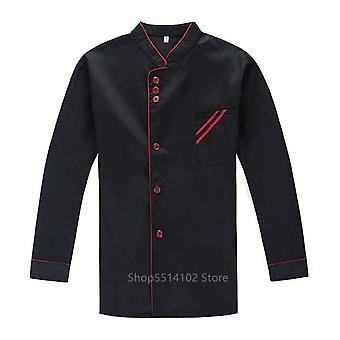 Kitchen Jacket Cooking Bakery Short/full Sleeve Plus Size Food Service