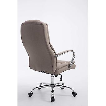 Silla de oficina - Silla de escritorio - Oficina en casa - Moderna - Taupe - 62 cm x 70 cm x 115 cm