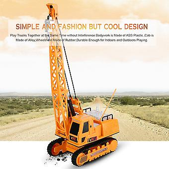12 Ch Rc Excavator Electric Engineering Vehicles With Light Music Digger Toys
