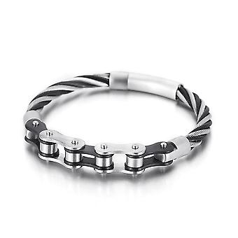 Punk Style Half Motocycle Chain Shaped Titanium Steel Bracelet
