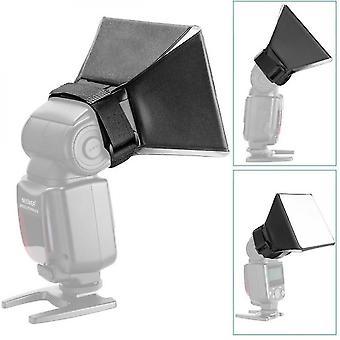 Qian Portable Mini faltbarer Blitz Diffusor Softbox Reflektor für Slr Speedlight