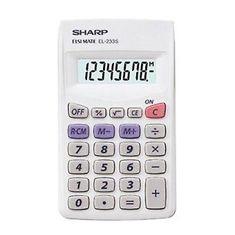 Sharp Elsi Mate El233Sb Simple Calculator Constant Memory Lge Display