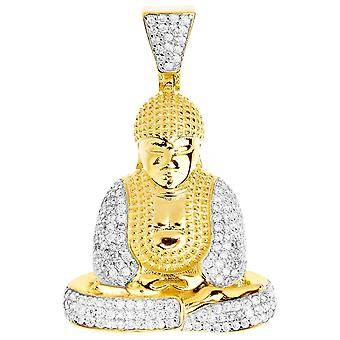 Premium Bling - 925 sterling silver Buddha pendant gold
