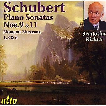 F el. Schubert - Schubert: Sonatas para Piano núms. 9 y 11; Momentos Musicaux [CD] USA importación