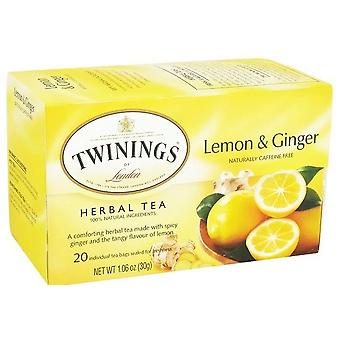 Twinings Of London Lemon & Ginger Herbal Tea
