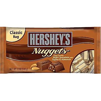 Hershey's Nuggets Milk Chocolate with Toffee & Almonds Candy