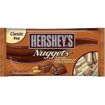 Hershey's Nuggets melk sjokolade med fløtekaramell & mandler Candy