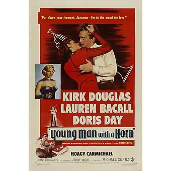 Nuori mies Horn elokuvajuliste (11 x 17)