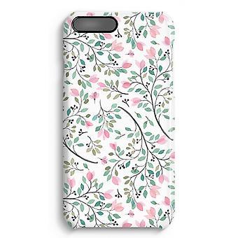 iPhone 7 Plus pełna obudowa głowiczki (błyszcząca) - delicje kwiaty