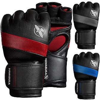 Hayabusa T3 4 oz. Dual-X Hook and Loop Closure Vylar Leather MMA Gloves